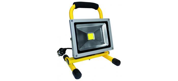 Projecteur LED de chantier portatif 230VAC 20W
